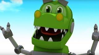 Врумиз - Сборник серий  - Застенчивый динозавр 1 и 2 -  Мультфильмы про машинки  сезон 3