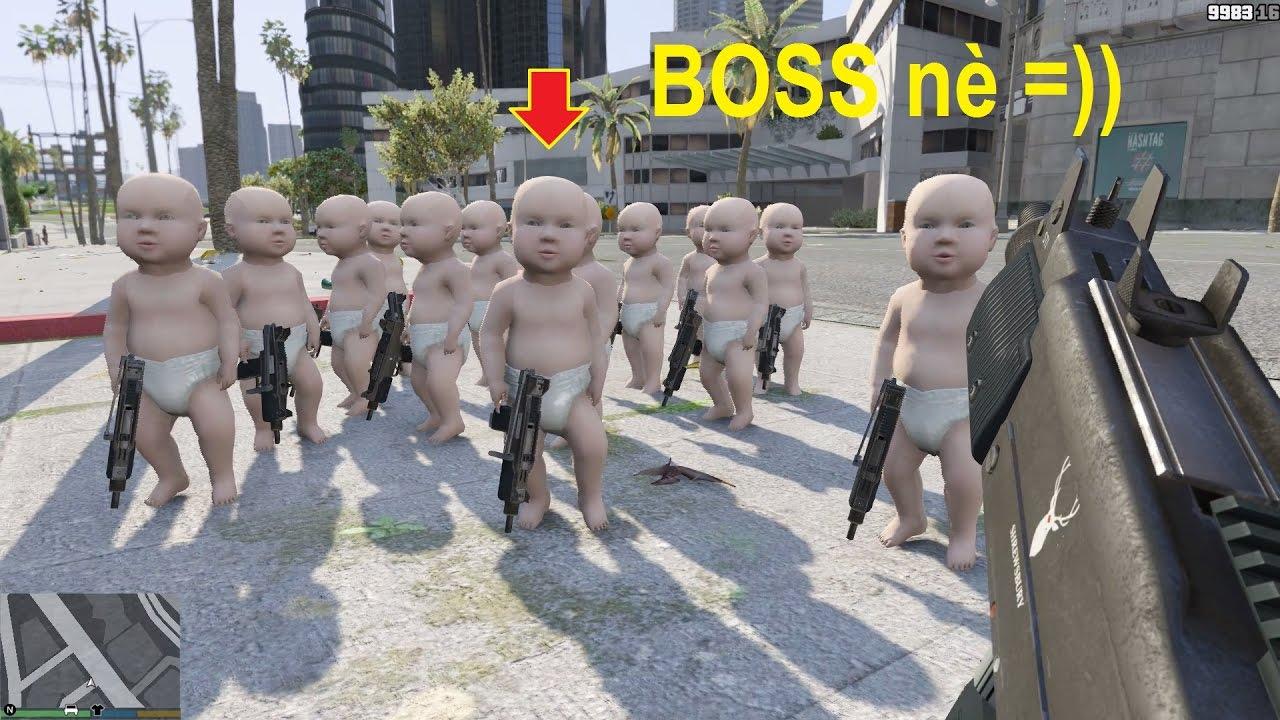 GTA 5 Mod – Khi Michael có con trai nhỏ, chuyện gì sẽ xảy ra? (Baby in GTA V)