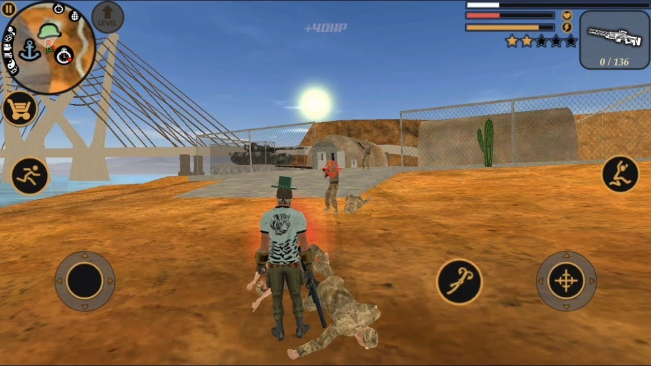 ► VEGAS ROPE HERO CAR BLAST & ARMY CAMP ATTACK | Vegas Crime Simulator #43 | Naxeex LLC Android