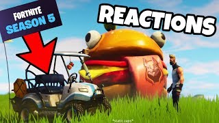 Fortnite SEASON 5 First REACTIONS + DRIVING THE NEW CARTS!