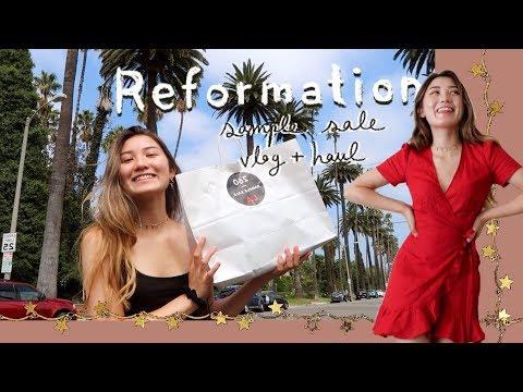 i went to a REFORMATION SAMPLE SALE (vlog + haul)