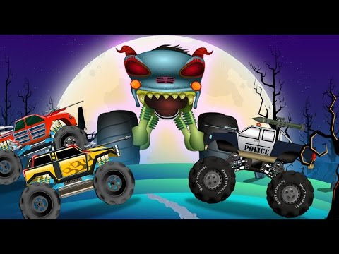 Haunted House Monster Truck - Police Monster Truck | Evil Monster Truck | Episode 16