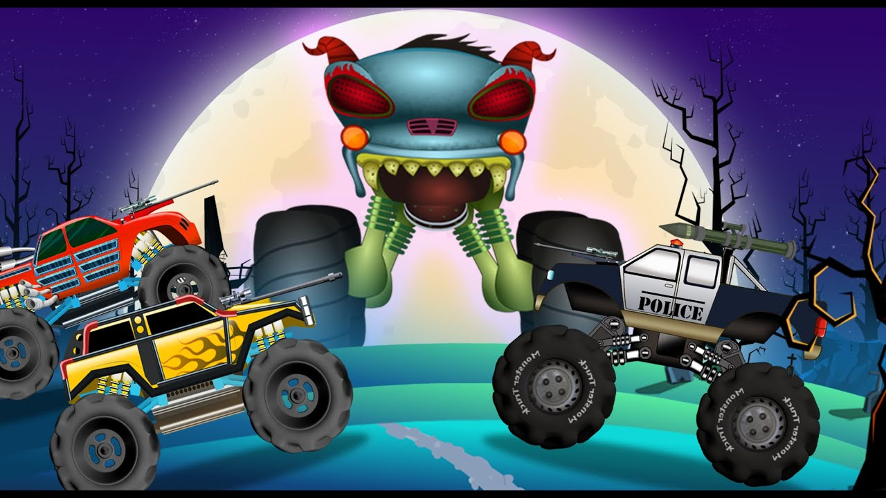 Haunted House Monster Truck Police Monster Truck Evil Monster