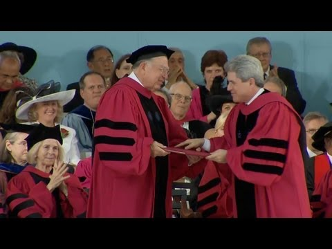 Conferring of Honorary Degrees | Harvard Commencement 2013