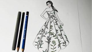 beginners easy drawing drawings simple draw floral step
