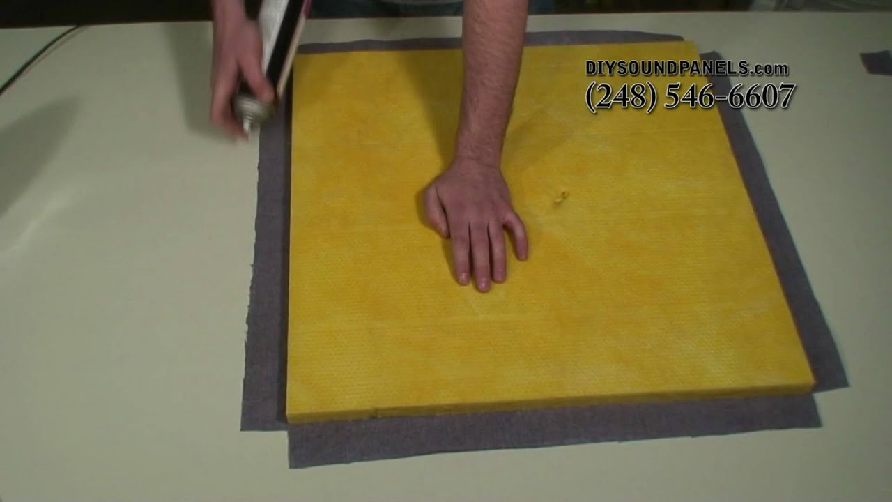 How to Laminate an Acoustic Sound Panel - YouTube