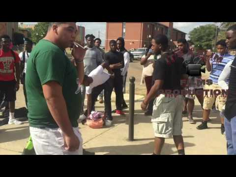College fight guy use brass knuckles