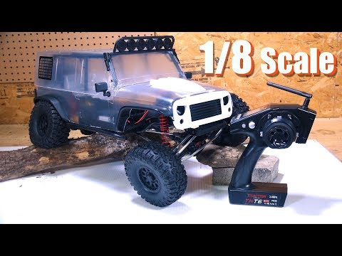 "RC ADVENTURES - Re-define Trail Crawling. Unboxing a 1/8th scale ""CRAGSMAN"" 4x4 - TRACTiON HOBBY"