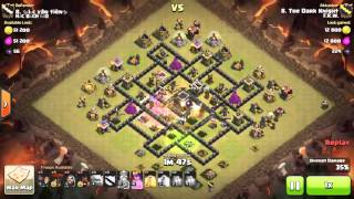 Clash of clans | th9 | war attack | 3 star | GOWIHO & LOON | most popular war base in clash of clans