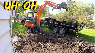 Our Mini excavator Broke down on a Job 4 k video