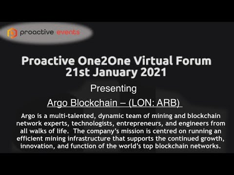 Argo present at the Proactive One2One live virtual conference