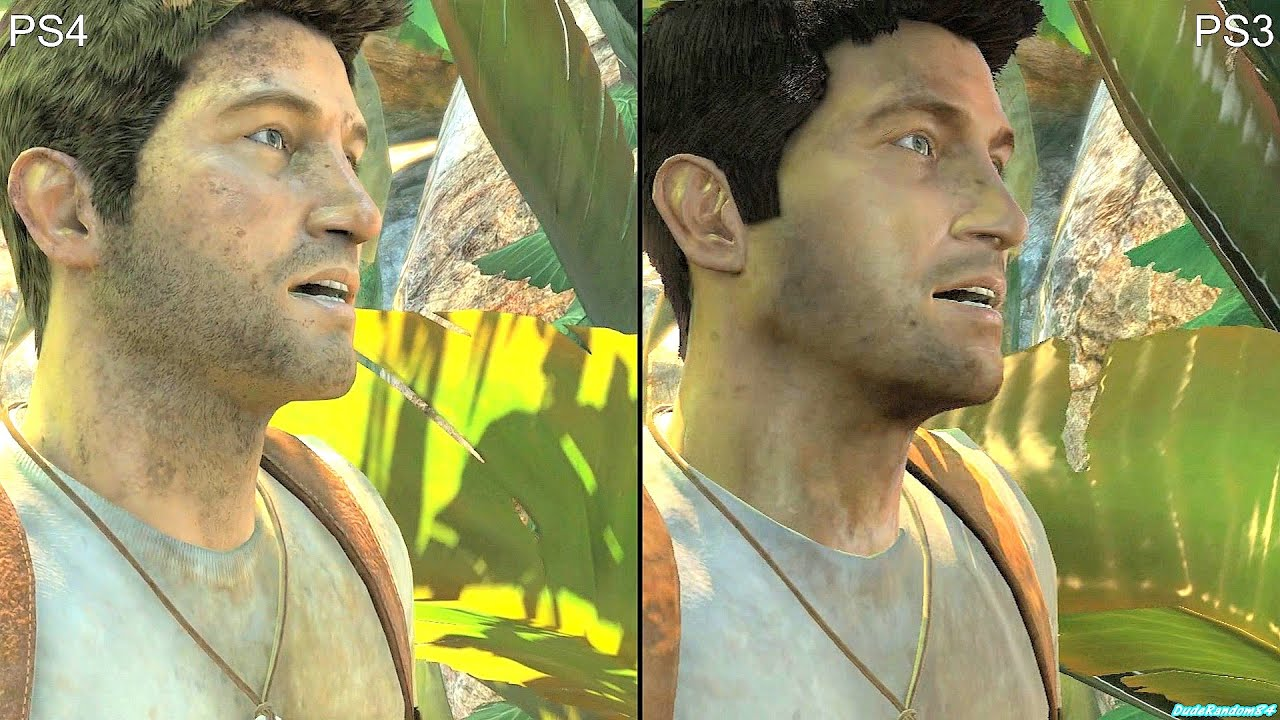 Uncharted 1 Drakes Fortune PS4 Vs PS3 Graphics Comparison