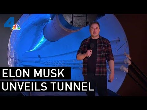 Elon Musk Reveals Underground Transportation Tunnel in Los Angeles