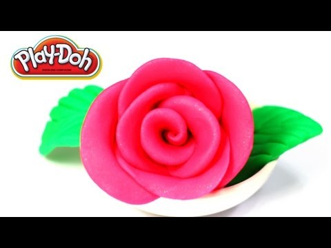Play-Doh Pink Rose Super Easy!