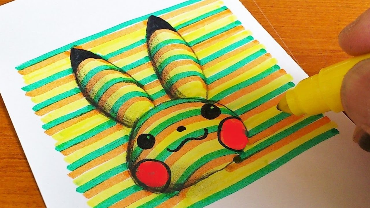 How to Draw 22D Pikachu (Pokémon) Coloring Pages  Learning Colouring Videos