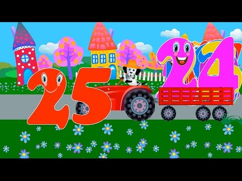 Learn numbers 0 to 25 with Number Tractor - Educational Video for Toddlers
