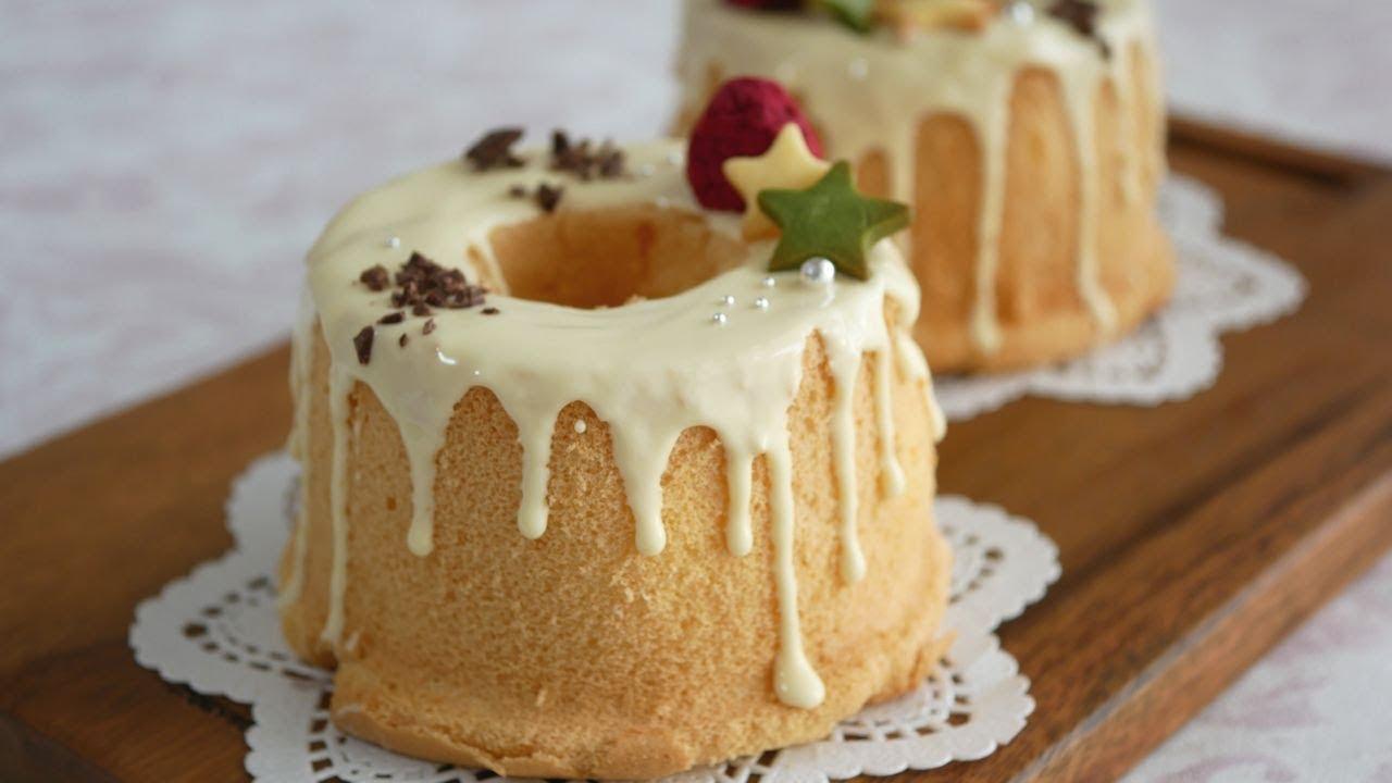 飾り付け シフォン ケーキ