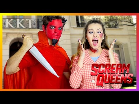f91e786b5628e Scream Queens Diy Halloween Costumes! | Dead Sorority Girl & Red Devil! - YT