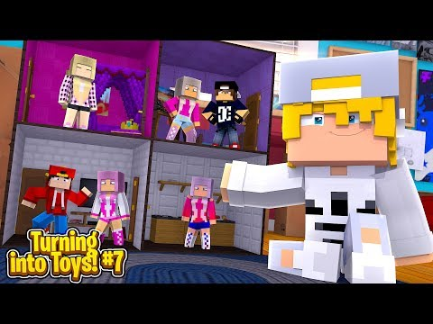 Minecraft Toys #7 - EPIC PARTY AT THE BARBIE DOLL HOUSE MANSION!!