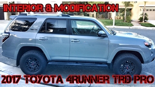 (Part2) 2017 4Runner TRD PRO Cement. Interior, Mods, and Dealer Options