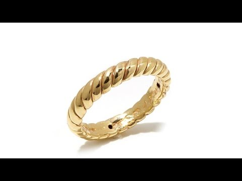 Sevilla Gold 14K Twist Electroform Band Ring YouTube