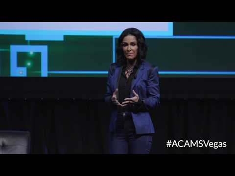 Lydia Cacho - Keynote Speaker at ACAMS AML & Financial Crime Conference - Las Vegas