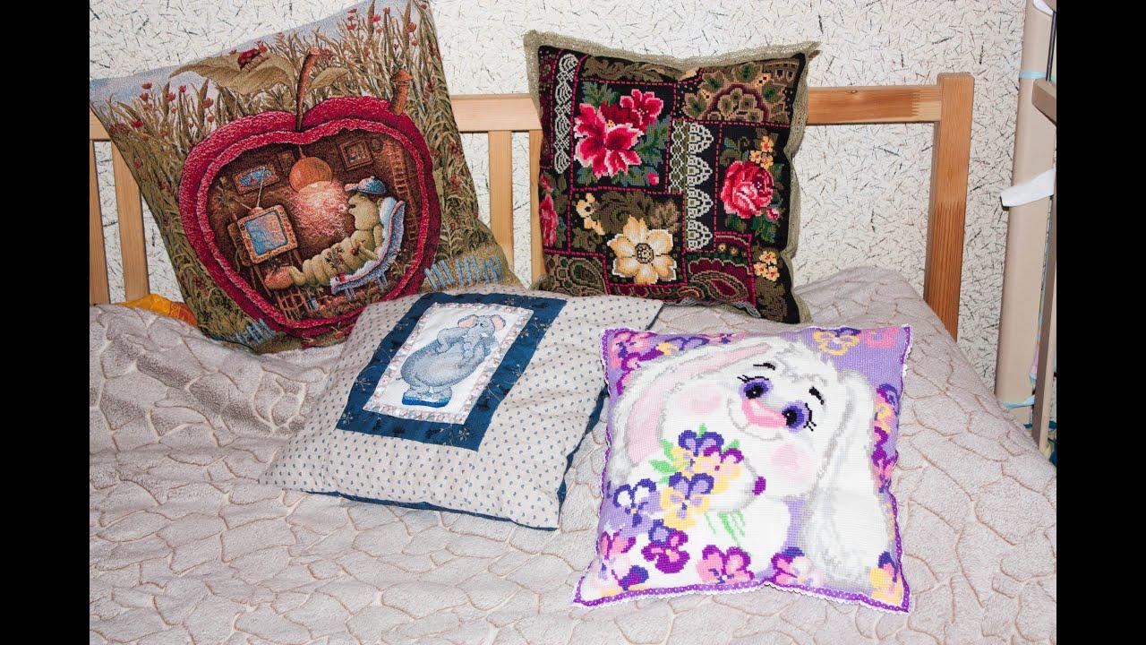 Вышивка крестом на подушками 57