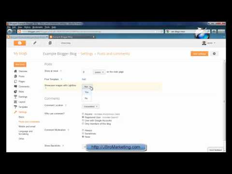Blogger How to (4/8) - Adjusting Blog Settings