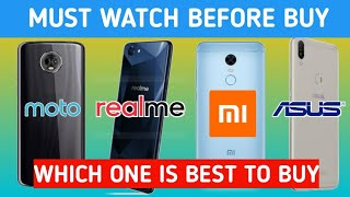 MOTO E5 PLUS vs ASUS ZENFONE MAX PRO M1 vs Realme 1 vs Redmi Note 5