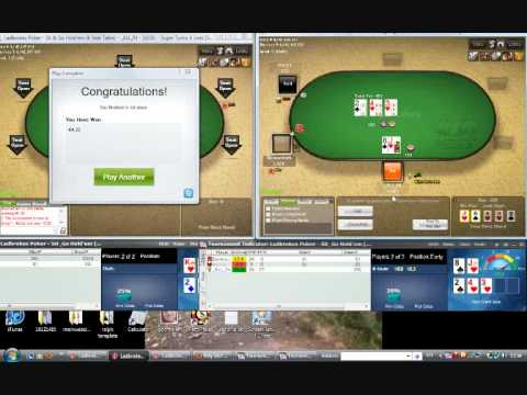SNG STT 6 SEAT NL MICRO STAKES STRATEGY GRINDING AT LADBROKES POKER