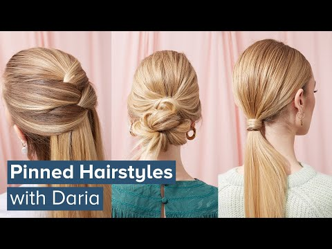 pinned-hairstyles-|-3-ways-to-style-hair-with-bobby-pins
