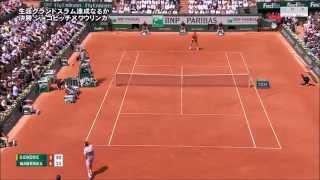【検証】ジョコビッチがインを無理やりアウト扱いにする!vsワウリンカ テニス全仏オープン決勝 2015【動画】