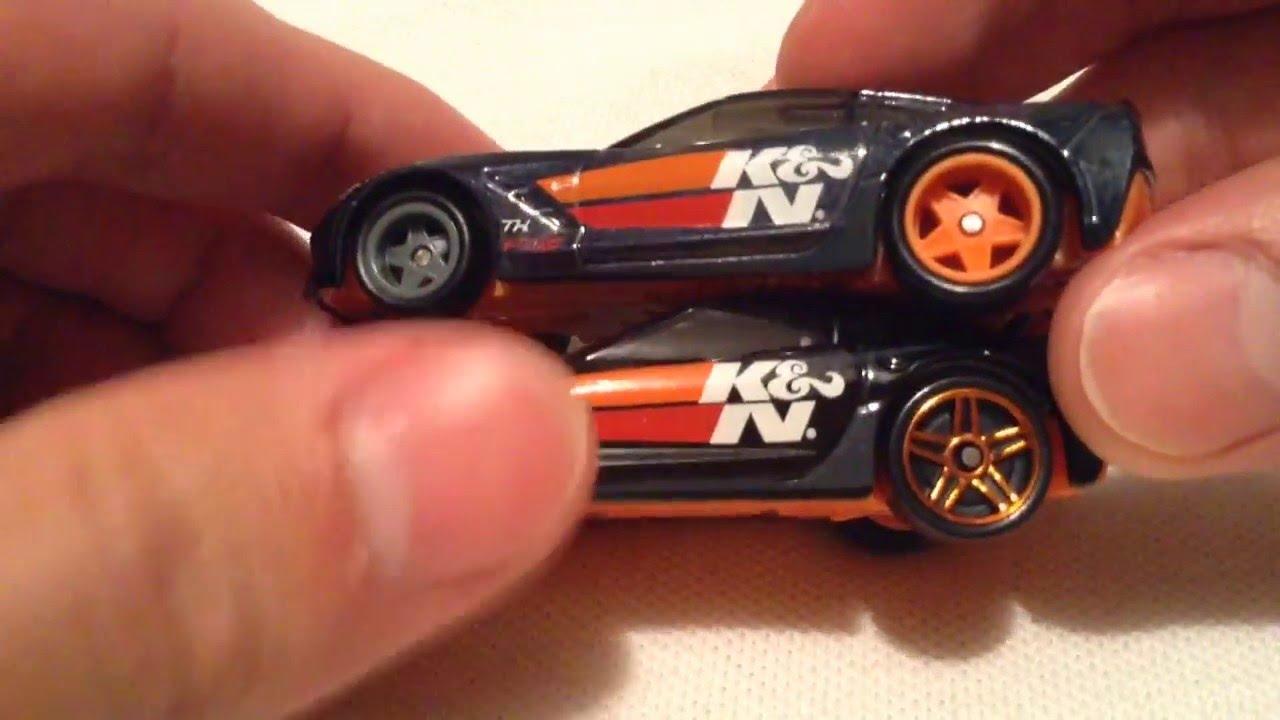 Hot Wheels 2014 Corvette Stingray 2016 D Case Super Treasure Hunt