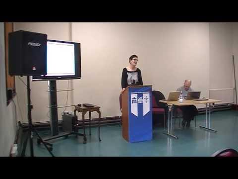 Dr Joan O'Sullivan of MIC lecture on use of Irish/English in Radio Advertising
