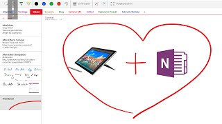 OneNote App on Surface Pro 4 with Windows 10