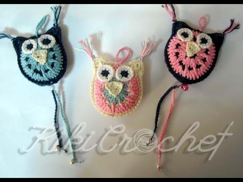 Πλεκτες Τρισδιαστατες Κουκουβαγιες / Crochet 3D Owl Tutorial