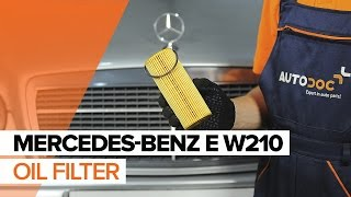 Coolant temperature sending unit installation MERCEDES-BENZ E-CLASS: video manual