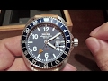 The Detroit built Shinola 44mm Rambler blue GMT watch unboxing and first look