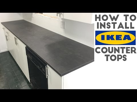 How To Install Laminate / IKEA Countertops | Quick And Easy!