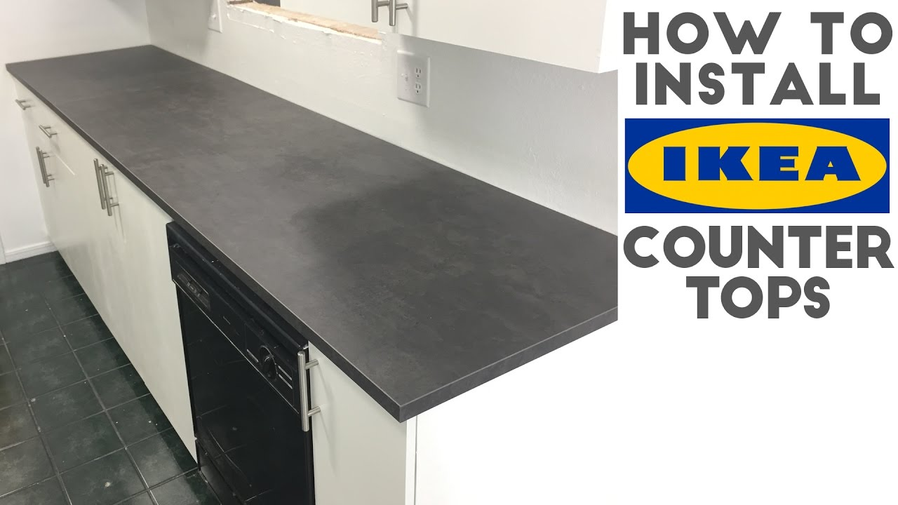 How To Install Laminate Ikea Countertops Quick And Easy Youtube
