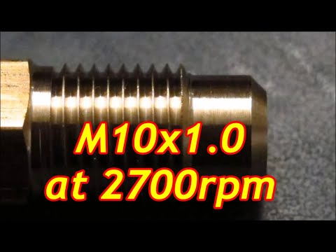 Benchtop cnc lathe Thread cutting at 2700 rpm