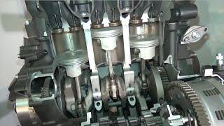 YAMAHA MT-09,MT-07 Engine cutaway