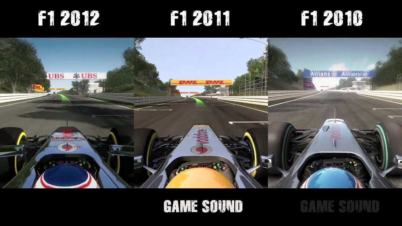 F1 2012 Vs F1 2011 Vs F1 2010 Graphics Amp Sound