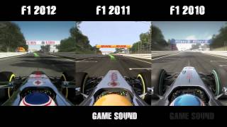 F1 2012 vs. F1 2011 vs. F1 2010 - graphics & sound comparison