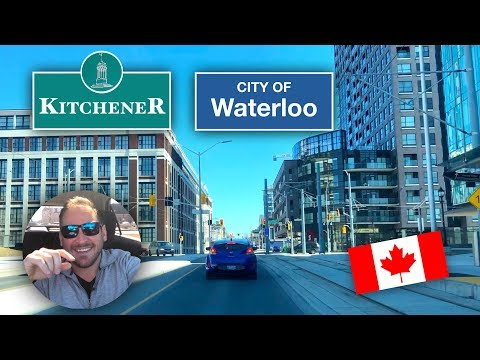 Kitchener Waterloo Ontario Downtown Drive : Including Both Universities