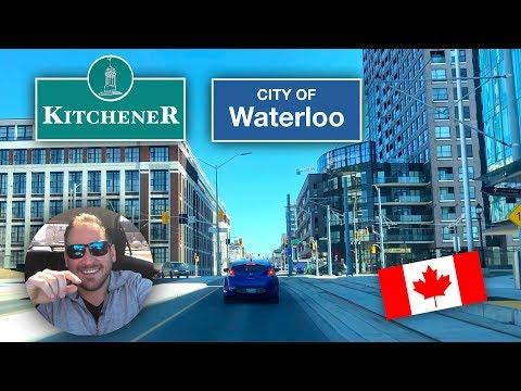 Kitchener Waterloo Ontario Downtown Drive : Including Both Universities