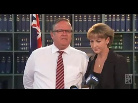 Ewen Jones comforted by Michaelia Cash as govt appoints special Clive Palmer liquidator