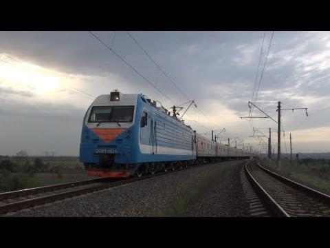ЭП1М-604 с поездом №198 Иркутск — Кисловодск