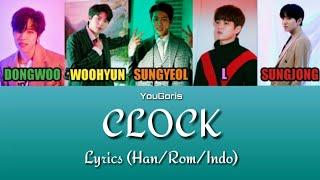 Infinite — clock 'color coded lyrics' (han/rom/indo)