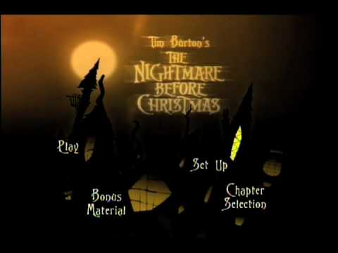 nightmare before christmas dvd menu